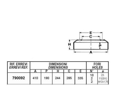 TAMBURO FRENO ANTERIORE PER AUTOCARRO ASTRA: SERIE - HD/C - 42.32.36.40.45 - 86.40.45.50 - 88.45.50