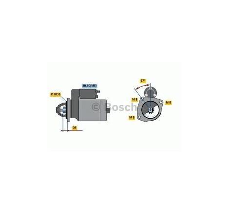 MOTORINO DI AVVIAMENTO 12V - 2,5 KW FIAT - PEUGEOT - CITROEN