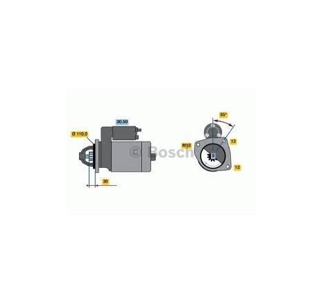 MOTORINO DI AVVIAMENTO 12V - 2,2 KW AUTOCARRO IVECO DAILY
