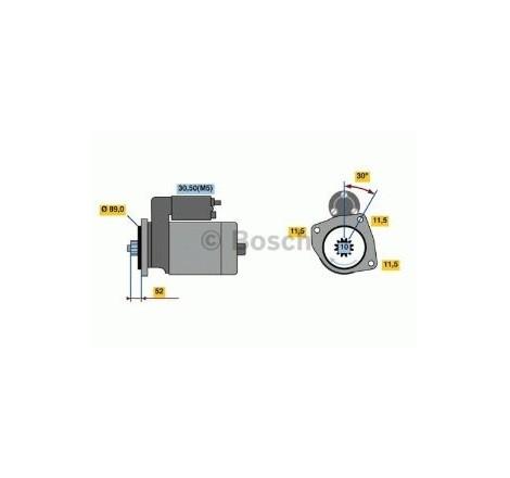 MOTORINO DI AVVIAMENTO ORIGNALE 24V - 4,5 KW AUTOCARRO IVECO