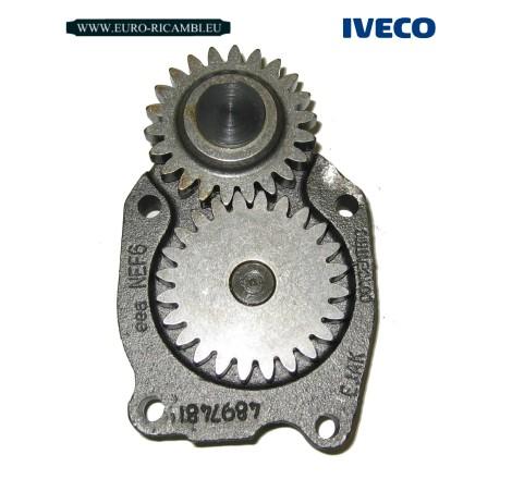 POMPA OLIO MOTORE ORIGINALE IVECO - TECTOR - F4AE0681 - 6 CILINDRI