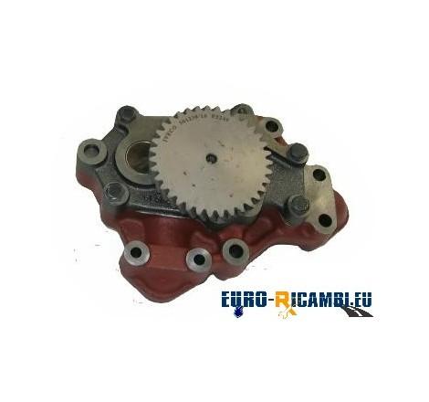 POMPA OLIO MOTORE ORIGINALE IVECO - 8220.02/12/22/32 - 180.24/470. 20 - ANTERIORE
